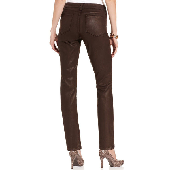 NYDJ Not Your Daughters Jeans COATED GANACHE Skinny $130 Petite