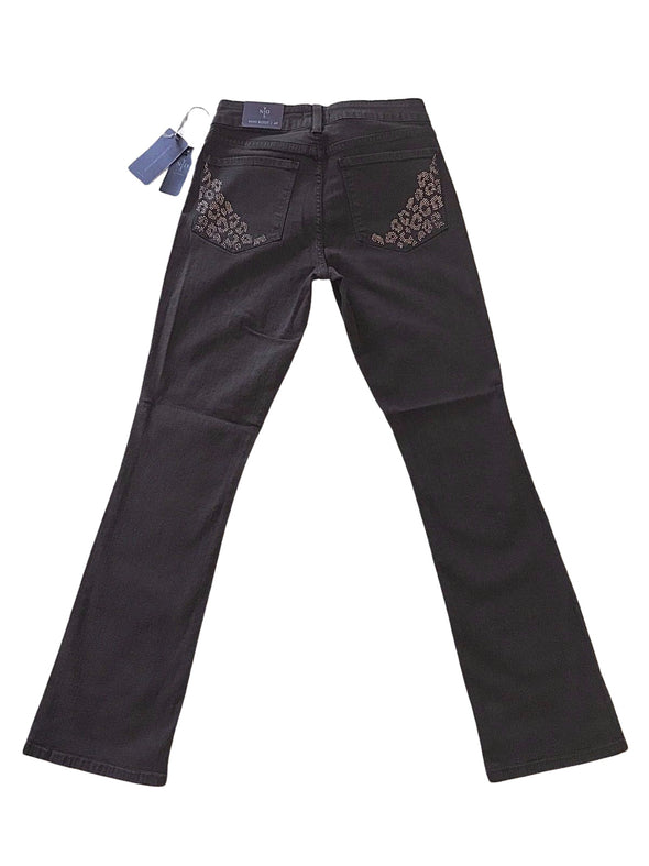 NYDJ Not Your Daughters Jeans MAHOGANY Billie Mini Boot Cut $124 Petite Pants