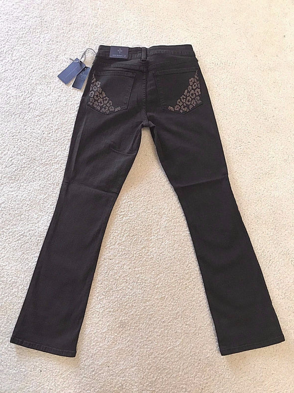 NYDJ Not Your Daughters Jeans MAHOGANY Billie Mini Boot Cut Pants