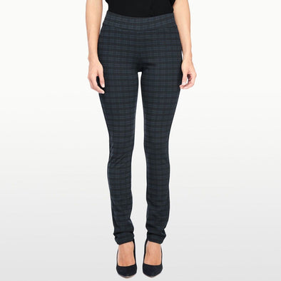 NYDJ Not Your Daughters TATTERSALL PLAID Leggings Pull On Petite Pants $120