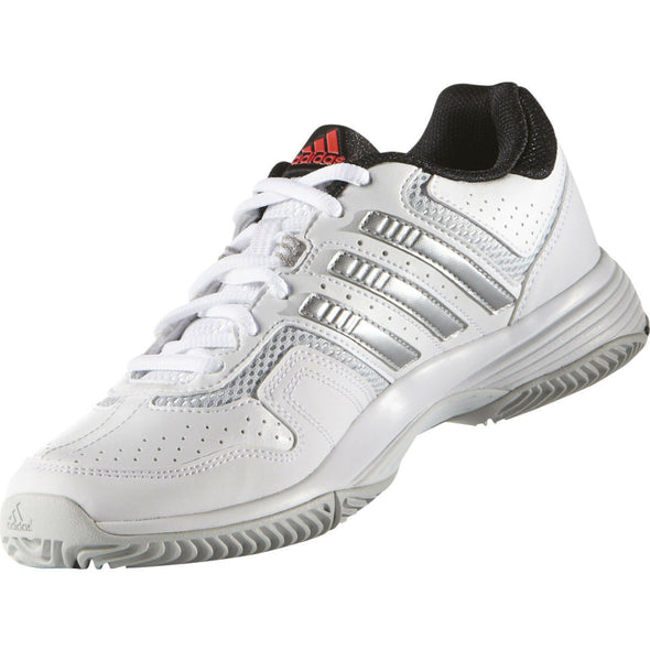 adidas Barricade Court 2 TENNIS Sneaker White Silver Black #S74567 Women's Size 5