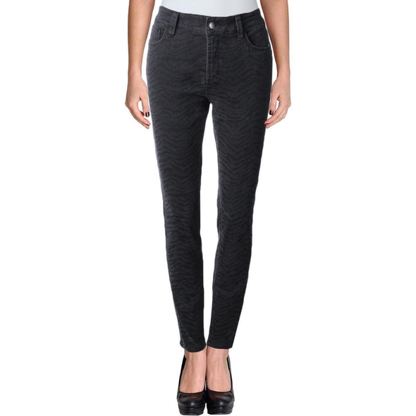 NYDJ Not Your Daughters Jeans Ami Jagged Zebra Black Super Skinny $168