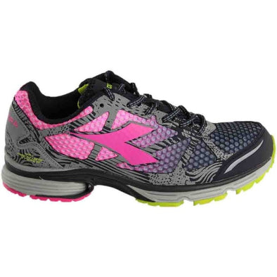 DIADORA N-6100-3 W Bright Dark Smoke/Pink Shocking Athletic Running Sneakers Women's Size 7
