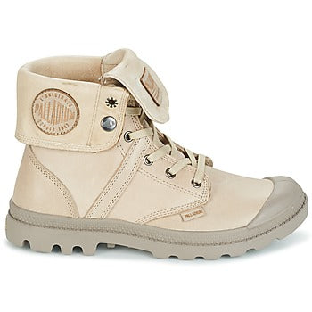 PALLADIUM Pallabrouse Baggy L2 Taupe Unisex Leather Fold Over Hiking Combat Boots