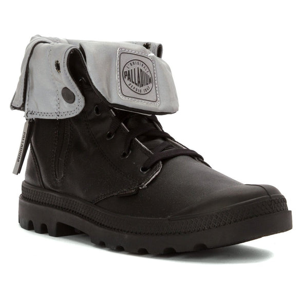 Palladium Baggy Zip CN Unisex Black Reflective Fold Down Lace Up Hiking Combat Boots