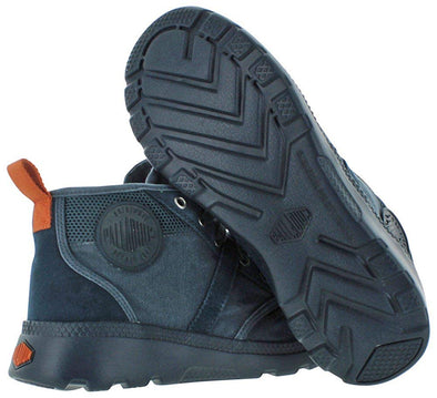Palladium Pallaville Hi CMS Men's Low Top Cross Trainers Athletic Sneakers in Mdnt Navy/Burnt Orange