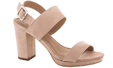 Lady Godiva Bella Women's Blush Microsuede Block Heel Sandals