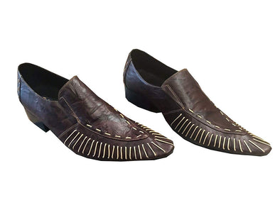 Fiesso by Aurelio Garcia FI-8142 Brown Genuine Leather Loafer Shoes Men's