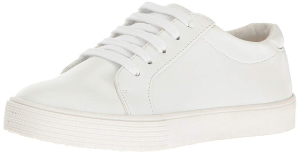 Kenneth Cole REACTION Big Kids' Kam Elastic White Gold Sneakers Size 12
