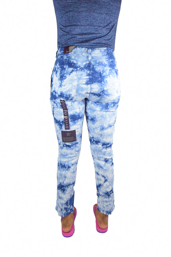 NYDJ Not Your Daughters Jeans BLUE SURGE Tie Dye SKINNY $110 Petite