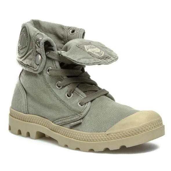 PALLADIUM Baggy Concrete/Putty Men's Lace Up Fold Down Hiking Combat Boots