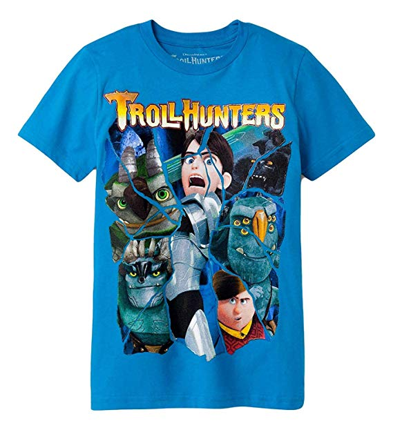 TROLL HUNTERS Blue T-Shirt Kid's Size XL