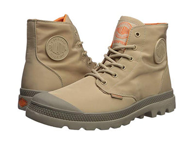 PALLADIUM Pampa Puddle Lite WP Unisex Ankle Hiking Combat Boots in Sesame