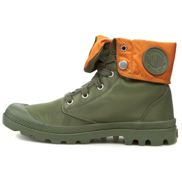 PALLADIUM Baggy Zip MA-1 Sage/Orange Men's Fold Down Zipper Combat Hiking Boots