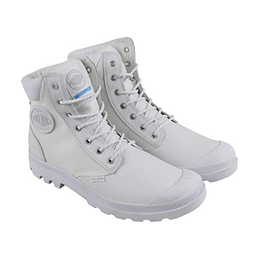 Palladium Pampa Sport Cuff WPN Unisex Leather Ankle Hiking Combat Boots in White