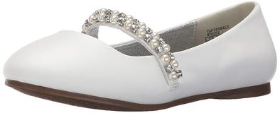 Kenneth Cole REACTION Tap Sparkle Ballet Flat White Bling Big Girl Sizes