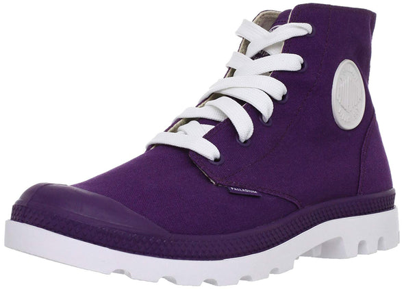 PALLADIUM Blanc Hi Unisex Purple/White Canvas High Top Sneakers Ankle Boots
