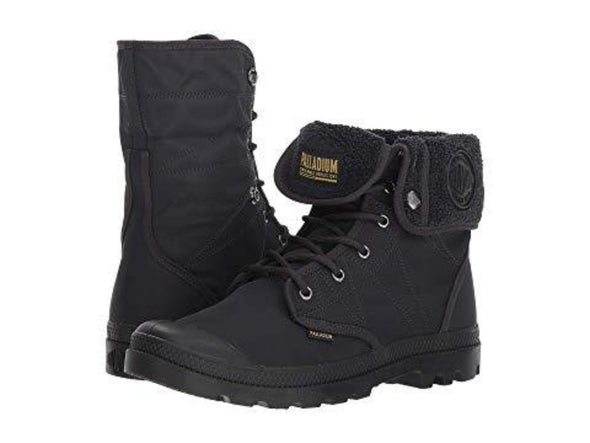 PALLADIUM Pallabrousse Baggy Tx Unisex Anthracite/Black Fold Over Fur Lined Combat Hiking Ankle Boots