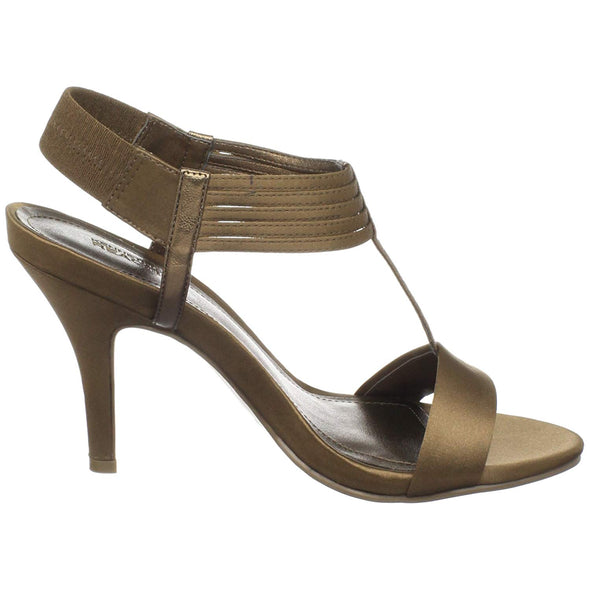 Kenneth Cole REACTION Women's Know Way A Satin Sandal Heels Bronze