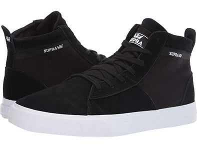 Supra Stacks Mid Men's Black/Black-White Athletic Skate Boarding Sneakers
