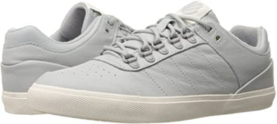 K- SWISS Gstaad Neu Sleek Women's Leather Low Top Tennis Shoes in Gull Gray/Eggnog