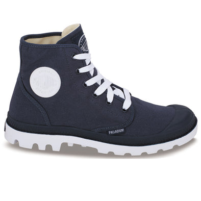 PALLADIUM Blanc Hi Unisex Indigo/White Canvas High Top Sneakers Ankle Boots