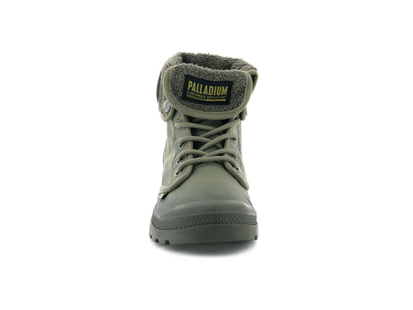 PALLADIUM Pallabrouse Baggy TX Unisex Dusky Green/Major Brown Fold Over Combat Hiking Boots