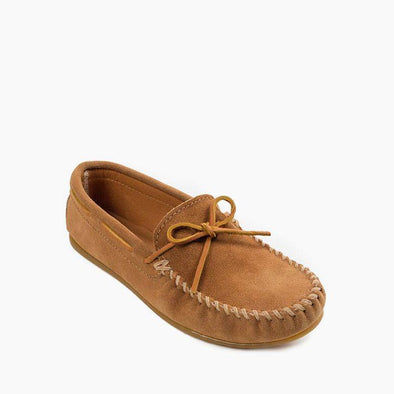 Minnetonka Men's Classic Moccasin Suede Leather Taupe #917T