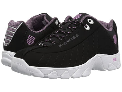K-Swiss ST329 CMF Women's Low Black/Smoky Grape/White Athletic Sneakers