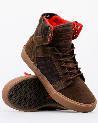 Supra Skytop Brown-Gum Men's Athletic Skate Boarding Sneakers