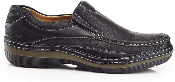 SOLO Men's Parker Casual Black Comfort Loafers