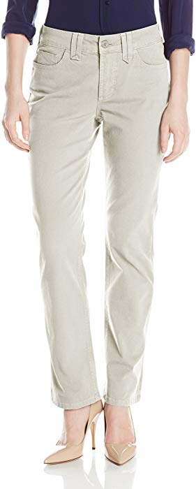 NYDJ Not Your Daughters Jeans Hayden Petite STONE STRAIGHT $114 Women's Petite Pants