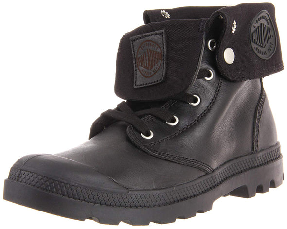 Palladium Baggy Leather Men's Black Ankle Lace-Up Boots