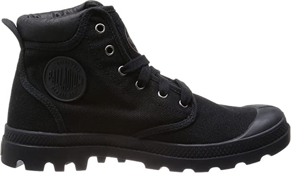 Palladium Pampa Hi Cuff Men's Black/Metal Ankle Hiking Chukka Combat Boots