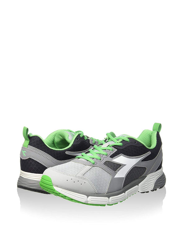 DIADORA Action III Paloma Grey/Green Athletic Running Sneakers Men's Size 8.5