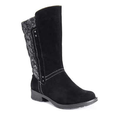 MUK LUKS Women's Casey Tall Boots Fashion Size 9 Black Dark Grey