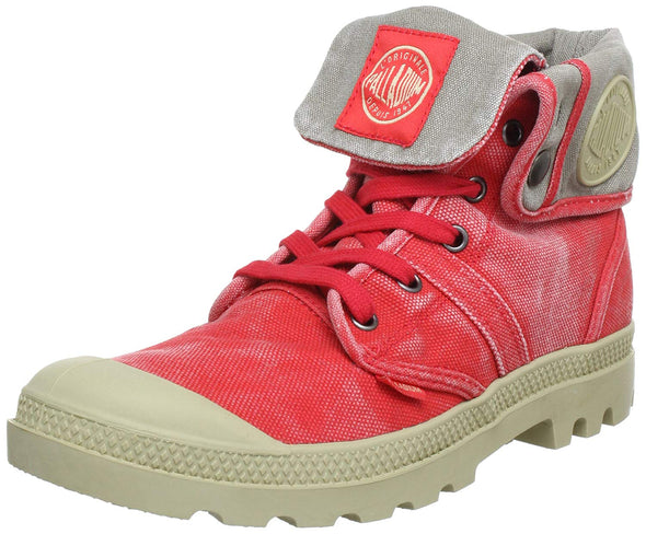 PALLADIUM Pallabrouse Baggy Cayenne Red Women's Fold Down Combat Hiking Boots
