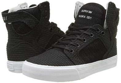 Supra Skytop Black-White/Light Grey Women's Athletic Skate Boarding Sneakers