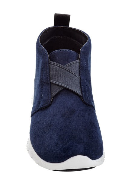HENRY FERRERA Navy Faux Suede Athletic Fashion Sneakers Men's Size 11