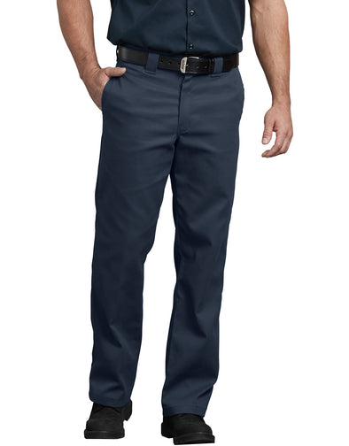 DICKIE'S Men's Flex Twill Straight Leg Navy Work Pants