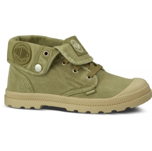 PALLADIUM Baggy Low LP Women's Sage/Putty Canvas Low Top Ankle Boots
