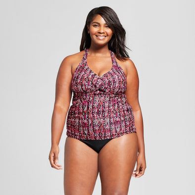 AVA + VIV Berry Bathing Suit Tankini Top Women's Size 22W