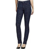 NYDJ Not Your Daughters Jeans INDIGO Medallion Slim Straight Flocking Petite