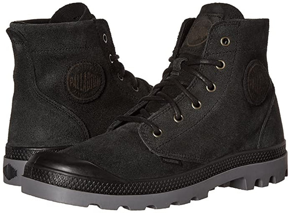 PALLADIUM Pampa Hi SDE UL Men's Black/Steeple Grey Suede Lace Up Ankle Hiking Boots