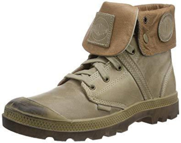 PALLADIUM Pallabrouse Baggy L2 Men's Lace Up Fold Over Combat Hiking Boots in Khaki/Tan