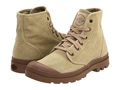 PALLADIUM Pampa Hi Stone Dark Khaki Men's Lace Up Combat Hiking Boots