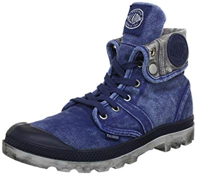 PALLADIUM Pallabrouse Baggy Navy/Metal Men's Canvas Fold Over Hiking Boots