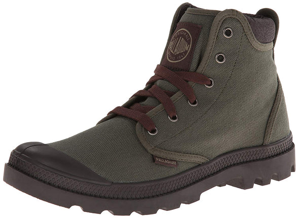 PALLADIUM Pampa Hi Cuff Olive Drab/Chocolate Men's Lace Up Ankle Chukka Hiking Boots
