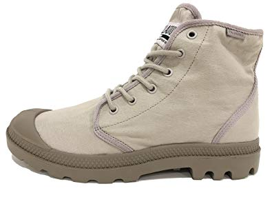 Pre-Owned Palladium Pampa Hi Originale TC String Fossil Unisex Ankle Combat Hiking Boots