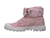 PALLADIUM Baggy Raspberry/Marshmallow Women's Canvas Fold Over Lace Up Boots